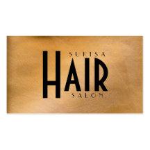 Förkoppra den metalliska hårsalongen visitkort mallar