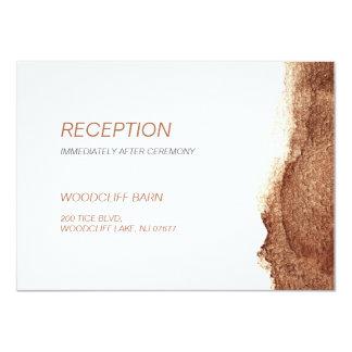 Förkoppra det moderna enkla bröllopmottagandet för 11,4 x 15,9 cm inbjudningskort