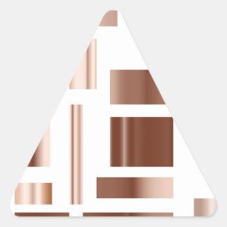 förkoppra metalliska kvarter triangelformat klistermärke