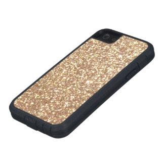 Förkoppra rosa guld- metalliskt glitter iPhone 5 fodral