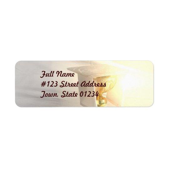 Förkroppsliga av Kristusbrevskickandeetikett Returadress Etikett