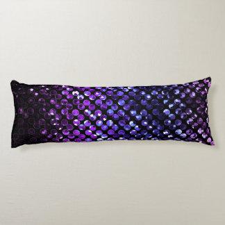 Förkroppsliga kudder purpurfärgade Crystal Bling Kroppskudde