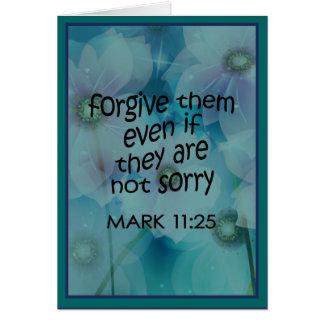 Förlåta dem hälsningskort
