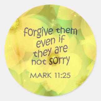 Förlåta dem runt klistermärke