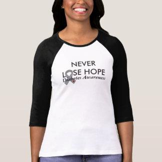 Förlora aldrig hoppsockersjukamedvetenheten tshirts