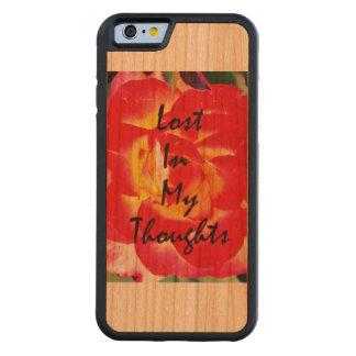 Förlorade i min tankar! carved körsbär iPhone 6 bumper skal