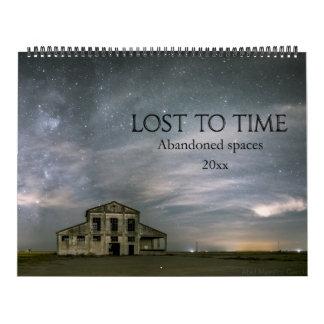 Förlorade till Time övergav utrymmen Kalender