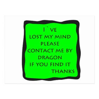 förlorade varar besvärad vykort