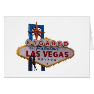 Förlovat i den Las Vegas lycklig koppla ihop korte Hälsnings Kort