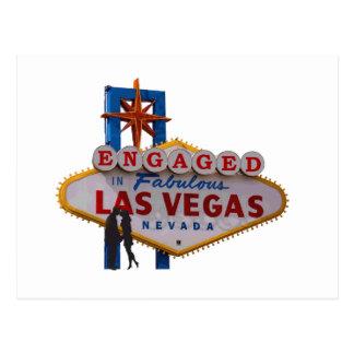 Förlovat i den sagolika Las Vegas vykortet Vykort