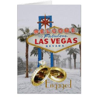 FÖRLOVAT i det Las Vegas kortet Hälsningskort