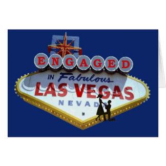Förlovat i det sagolika Las Vegas kortet Hälsningskort