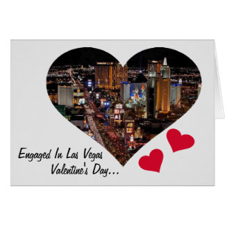 Förlovat i Las Vegas valentin kort för dag
