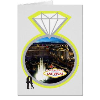 Förlovat i sagolikt kort för Las Vegas diamantring