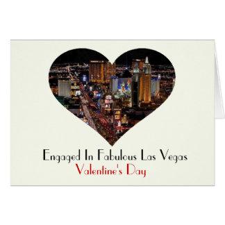 Förlovat i sagolikt Las Vegas valentin kort för da