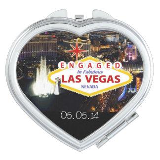 Förlovat i spegel för Las Vegas minnessaköverensko Makeup Spegel