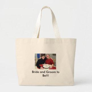 förlovning 1, brud och brudgum som är!!! jumbo tygkasse