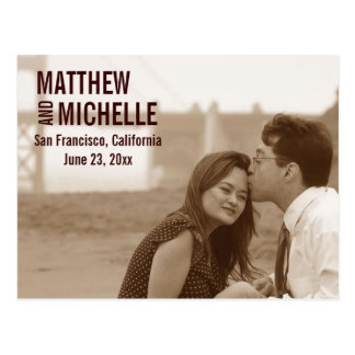 Förlovningfotospara dateravykortet vykort