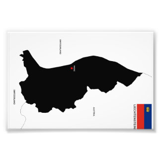 formar den politiska kartan för liechtenstein land foto