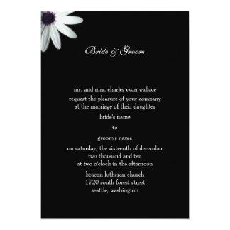 Formell bröllopinbjudan 12,7 x 17,8 cm inbjudningskort