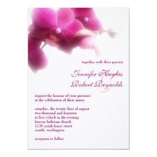 Formell bröllopinbjudan för Orchid 12,7 X 17,8 Cm Inbjudningskort