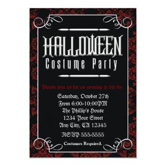 Formell elegant inbjudan för Halloween dräktparty