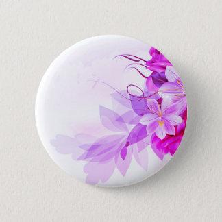 Formgivare knäppas med Folk blommor Standard Knapp Rund 5.7 Cm