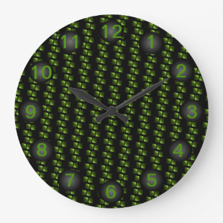 Formgivare tar tid på moderna hem- dekorgåvor stor klocka
