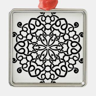 Formgivaremandalasamling: svart beige julgransprydnad metall