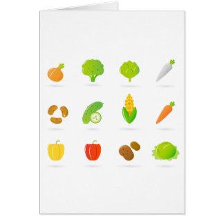 Formgivaretshirt med Bio handdrawn frukt Hälsningskort