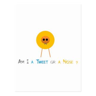 Förmiddag mig en tweet eller en näsa? vykort