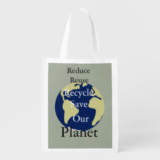 Förminska, återanvända, återanvänd, spara vårt återanvändbara kassar