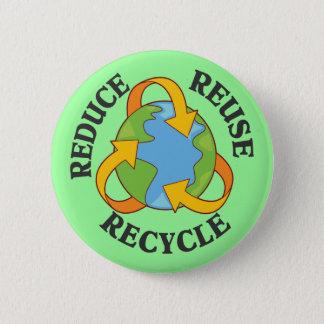Förminska återanvänder återvinna standard knapp rund 5.7 cm