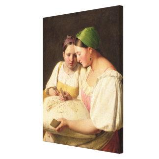 Förmögenhet-Träffande 1842 Canvastryck