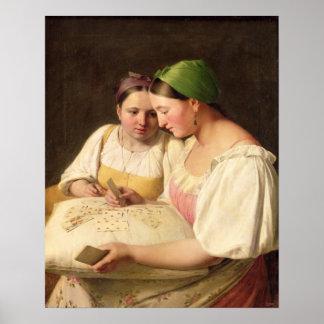 Förmögenhet-Träffande 1842 Poster