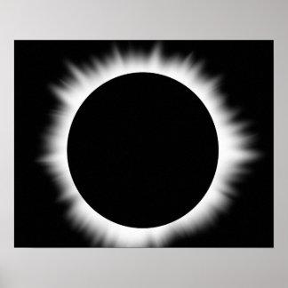 Förmörkelse av soltrycket affischer