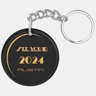 Förmörkelse Keychain 2024 Austin