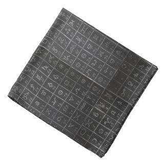 Formulera först den svart tavlan för bandana