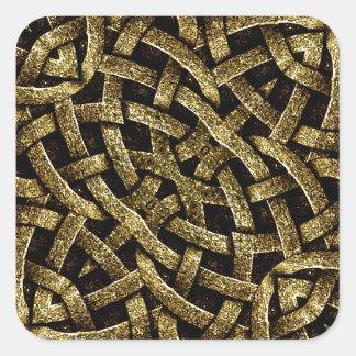 Forntida Arabesquestenprydnad Fyrkantigt Klistermärke