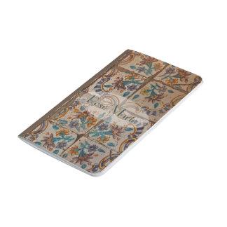 Forntida belägger med tegel anteckningsbok
