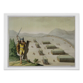 Forntida Celts eller Gauls i strid, c.1800-18 (col Poster