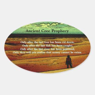 Forntida CreeProphecy Ovalt Klistermärke