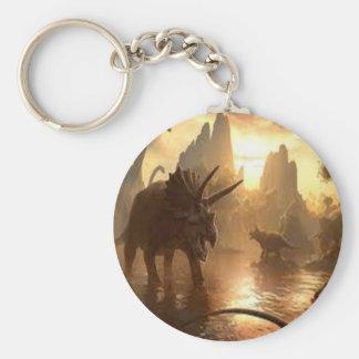forntida dinosaur rund nyckelring