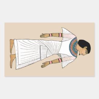 Forntida egyptisk kuvertklistermärke för SOLBRÄNNA Rektangulärt Klistermärke