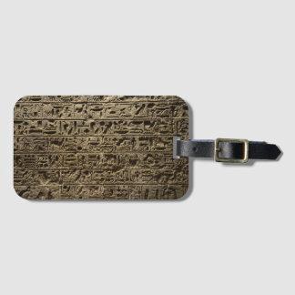 forntida egyptiska hieroglyphs bagagebricka