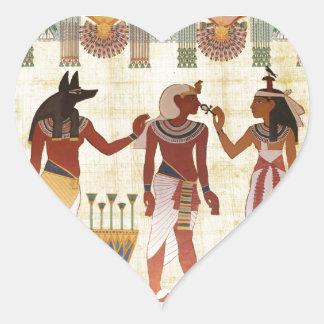 Forntida egyptiska klistermärkear för hjärtformat klistermärke