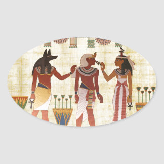 Forntida egyptiska klistermärkear för ovalt klistermärke