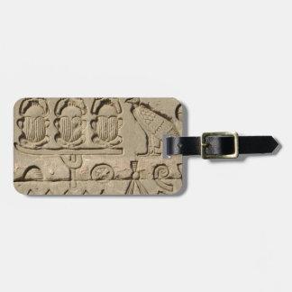 Forntida egyptiska symboler bagagebricka