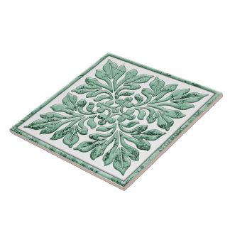 Forntida engelska belägger med tegel coolt urblekt stor kakelplatta