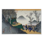 Forntida japansk konst för vintage posters
